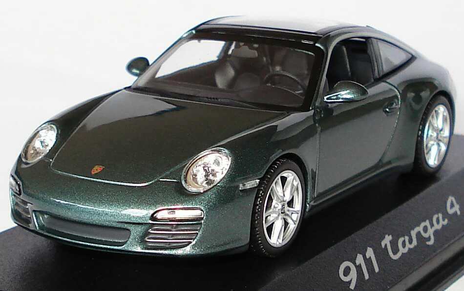 Foto 1:43 Porsche 911 Targa 4 (997, Modell 2009) malachitgrün-met. Werbemodell Minichamps WAP02002918