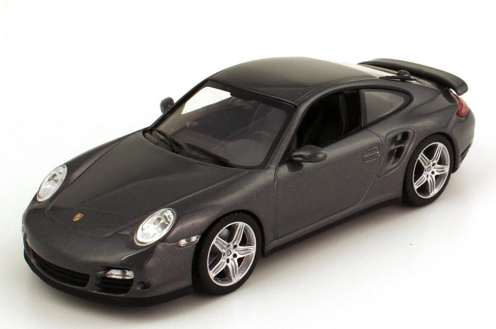 Foto 1:43 Porsche 911 turbo (997 Facelift 2009) meteorgrau-met. Werbemodell Minichamps WAP02013016