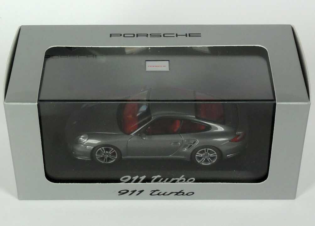 Foto 1:43 Porsche 911 turbo (997, Modell 2010) meteorgrau-met. Werbemodell Minichamps WAP0200010A