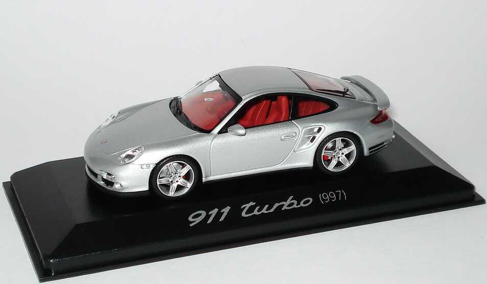 Foto 1:43 Porsche 911 turbo (997) silber-met. Werbemodell Minichamps WAP02013216