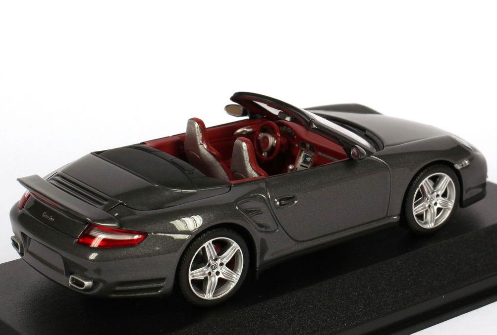 Porsche 911 Turbo >> Porsche 911 turbo Cabriolet (997) meteor-grau-met. Werbemodell Minichamps WAP02000218 in der ...