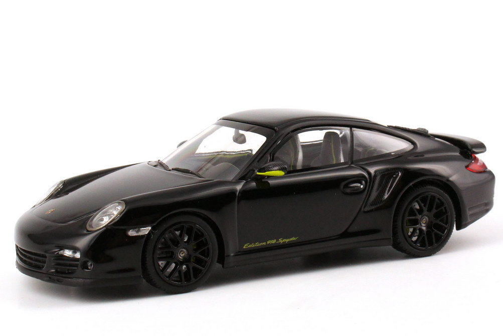 Foto 1:43 Porsche 911 turbo S (997) Edition 918 Spyder schwarz-met. Werbemodell - 1 of 918 Minichamps WAP0201020D