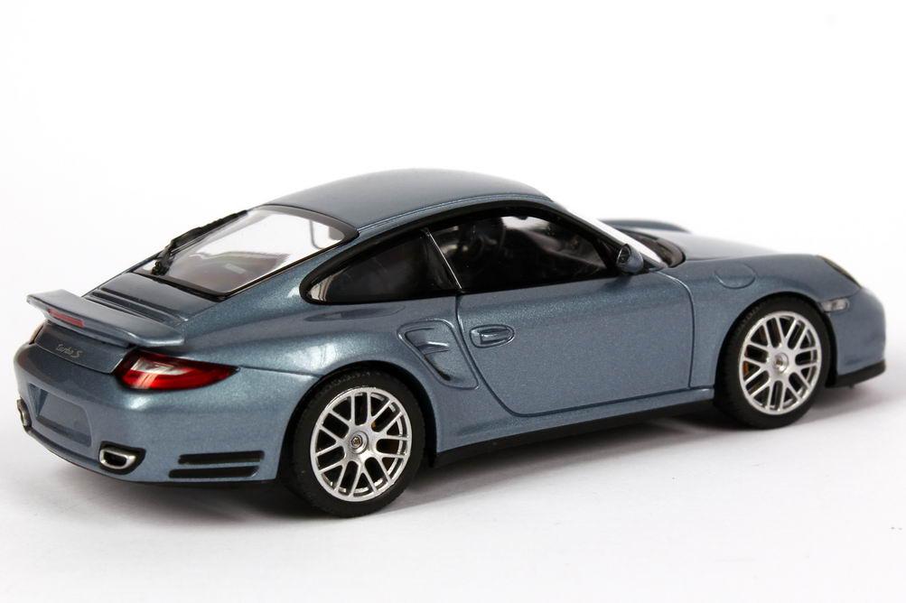 Foto 1:43 Porsche 911 turbo S (997, Modell 2010) eis-blau-met. Werbemodell Minichamps WAP0200120A