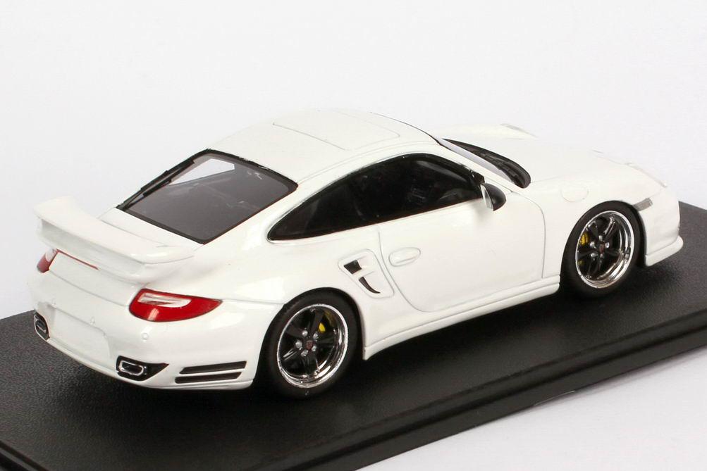 Foto 1:43 Porsche 911 turbo S Tequipment (997, Modell 2010) weiß Werbemodell Spark WAP0200290C