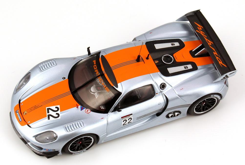 Foto 1:43 Porsche 918 RSR silber/orange Nr.22, Röhrl / Lieb (Detroit Motorshow 2011) Werbemodell Minichamps WAP0201910C