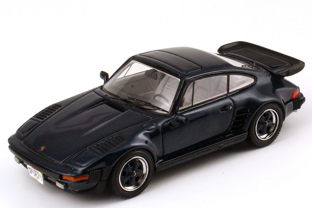 Foto 1:43 Porsche 930 turbo SE Flatnose US-Version dunkel-blau-met. NEO Scale Models 43273
