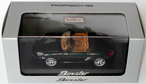 Foto 1:43 Porsche Boxster (987, Modell 2009) racinggreen-met. Werbemodell Schuco WAP02000619