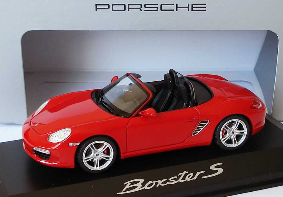 Foto 1:43 Porsche Boxster S (987, Modell 2009) indischrot Werbemodell Schuco WAP02000719