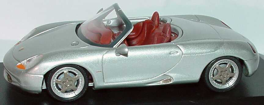Foto 1:43 Porsche Boxster Studie/Prototyp silber-met. Werbemodell Minichamps