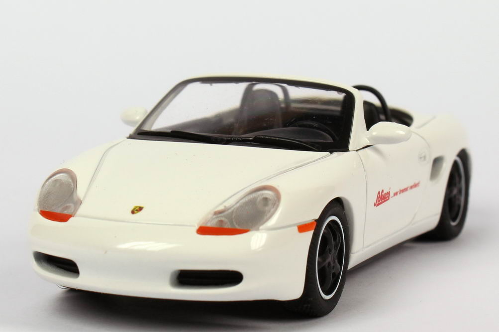Foto 1:43 Porsche Boxster weiß Schuco... wer bremst verliert! Schuco 04223