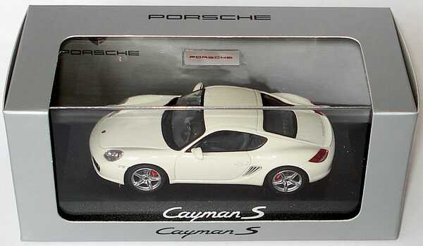 Foto 1:43 Porsche Cayman S (Modell 2009) carraraweiß Werbemodell Schuco WAP02000919