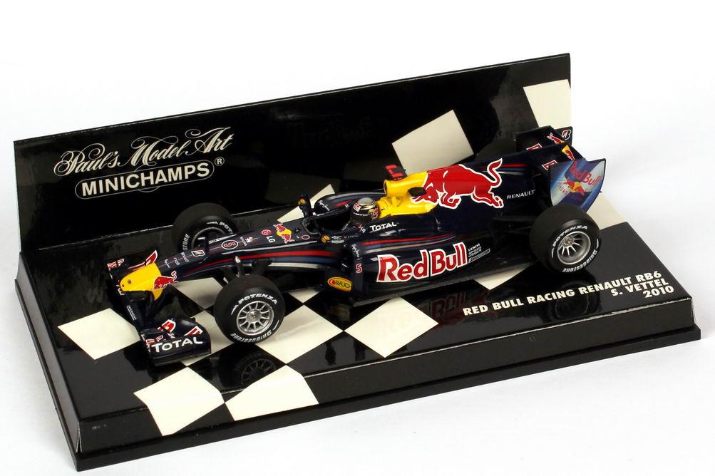 Foto 1:43 Red Bull Racing Renault RB6 Formel 1 2010 Nr.5, Sebastian Vettel Minichamps 410100005