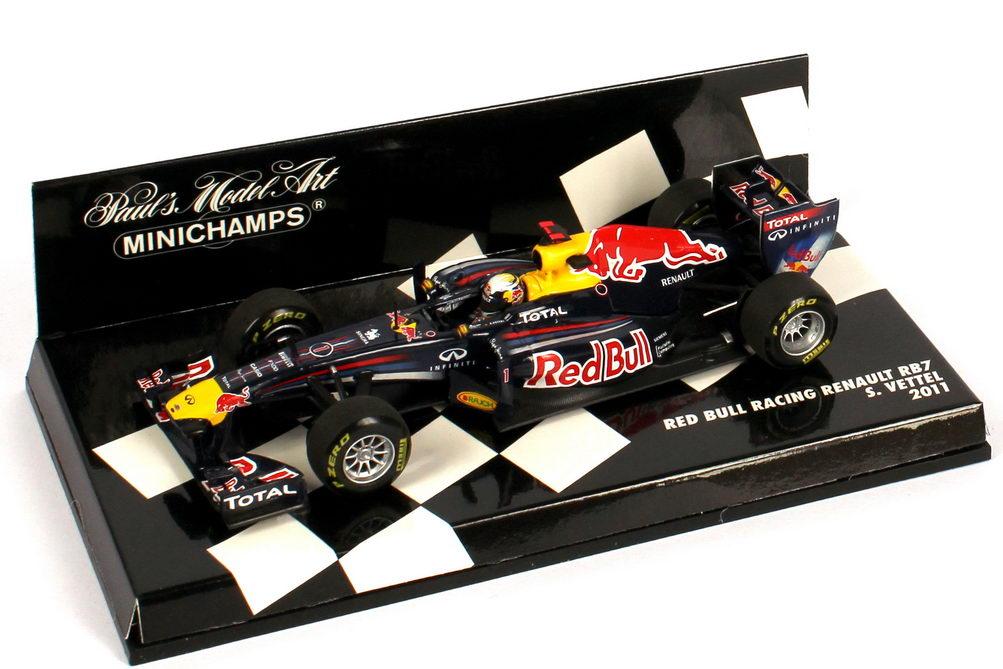 Foto 1:43 Red Bull Racing Renault RB7 Formel 1 2011 Nr.1, Sebastian Vettel Minichamps 410110001