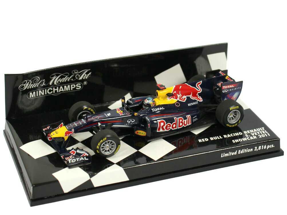 Foto 1:43 Red Bull Racing Renault Showcar Formel 1 2011 Nr.1, Sebastian Vettel Minichamps 410110071