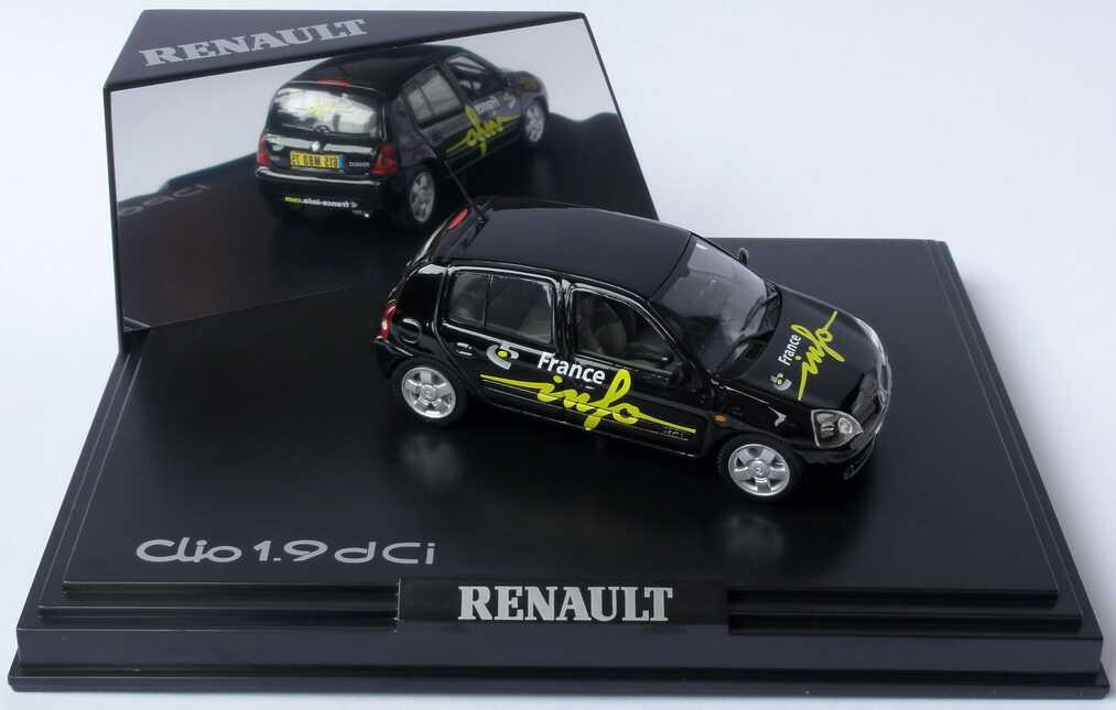 Foto 1:43 Renault Clio II Facelift 1.9 dCi France Info Radio 105,5 Norev 517509