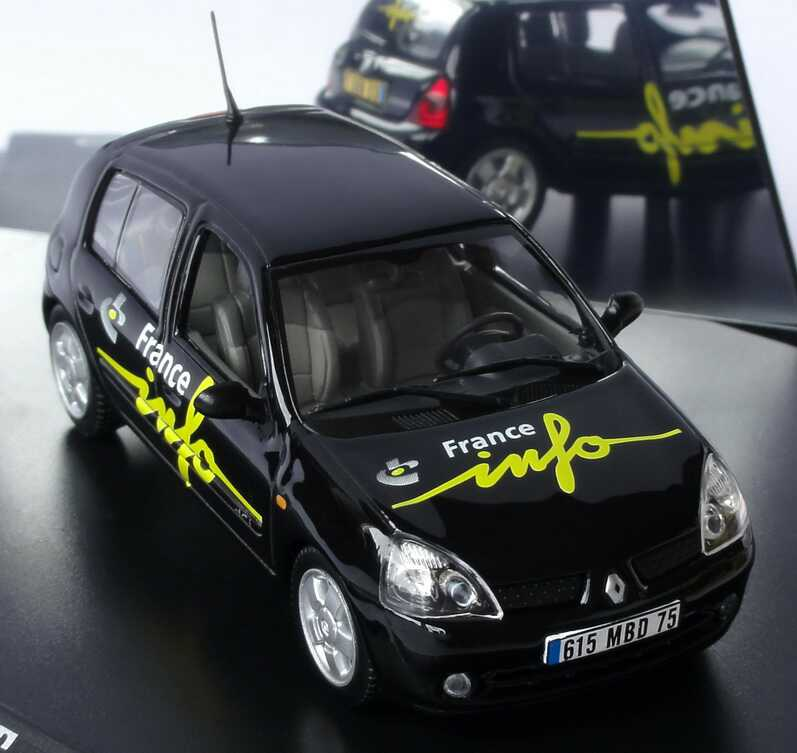 Foto 1:43 Renault Clio II Facelift 1.9 dCi France Info Radio 105,5 Norev 517509