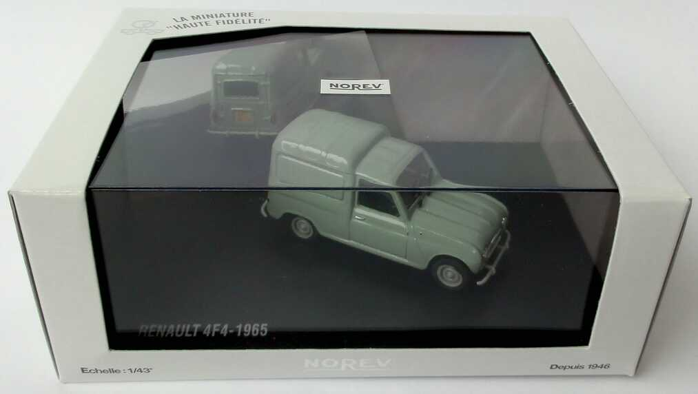 Foto 1:43 Renault R4 4F4 Fourgonette 1965 hellgraugrün Norev 511001