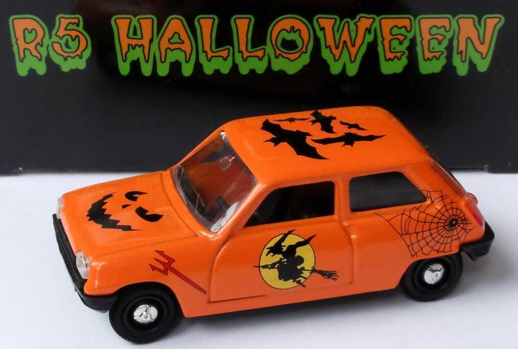 Foto 1:43 Renault R5 orange Happy Halloween mit Besen Norev 510502