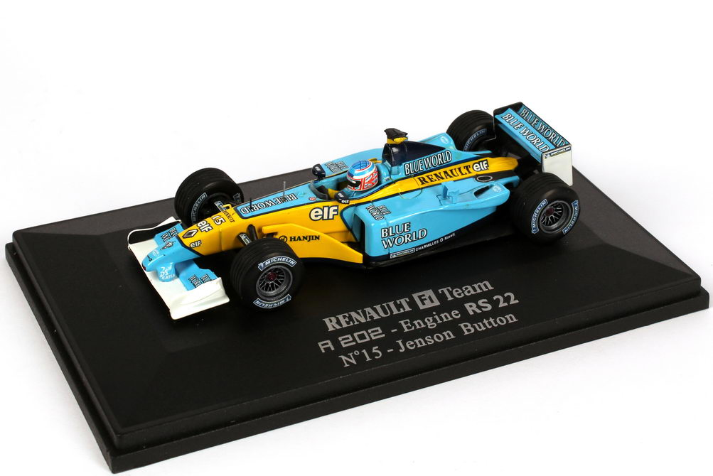 Foto 1:43 Renault F1 Team RS22 Formel 1 2002 Nr.15, Jenson Button Universal Hobbies 2190