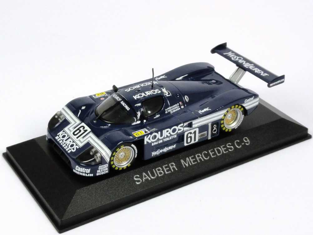 Foto 1:43 Sauber-Mercedes C9 24h von Le Mans 1987 Kouros Nr.61, Pescarolo / Thackwell / Okada Max-Modells 1007