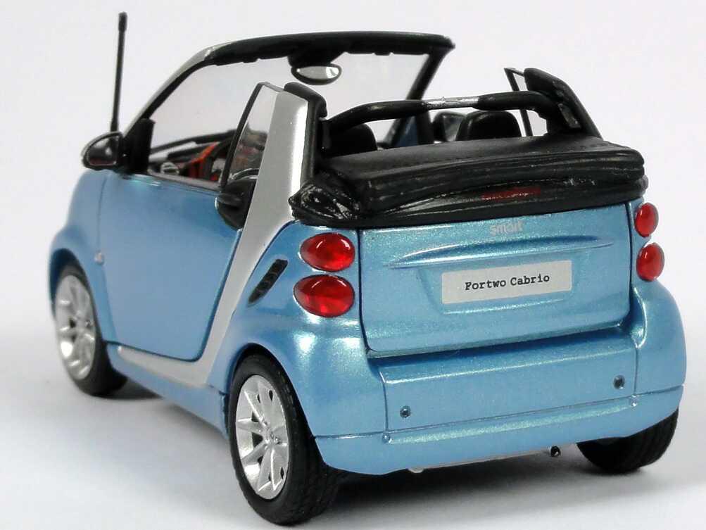 Foto 1:43 Smart Cabrio (A451 MOPF) hellblau-met. Werbemodell Minichamps B66960054
