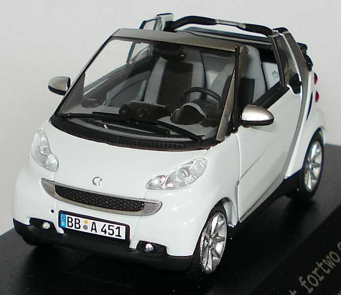 Foto 1:43 Smart Fortwo II Cabrio crystalwhite Werbemodell Minichamps Q0022562V001C82Q00