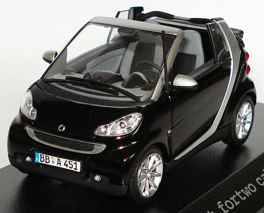 Foto 1:43 Smart Fortwo II Cabrio deepblack Werbemodell Minichamps Q0022561V001C18Q00