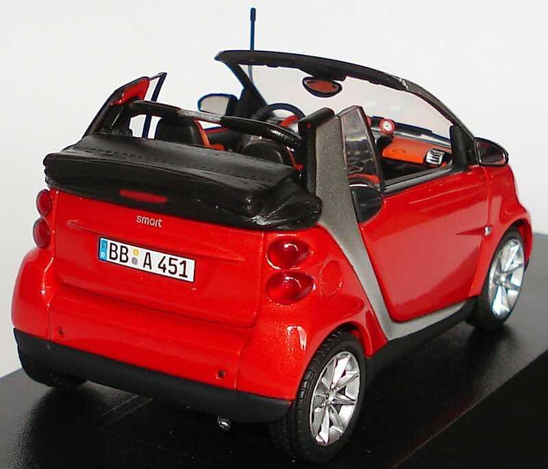 Foto 1:43 Smart Fortwo II Cabrio A451 rot-met. Werbemodell Minichamps Q0022560V001C81Q00