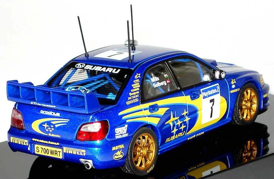 Foto 1:43 Subaru Impreza WRC 2003  Nr.7, Solberg / Mills (Winner of Rally France) AUTOart 60393