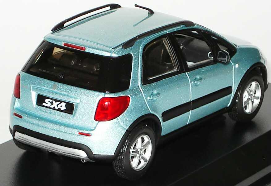 Foto 1:43 Suzuki SX4 ocean-light-blue-met. Werbemodell Norev 990E0-79J51-000