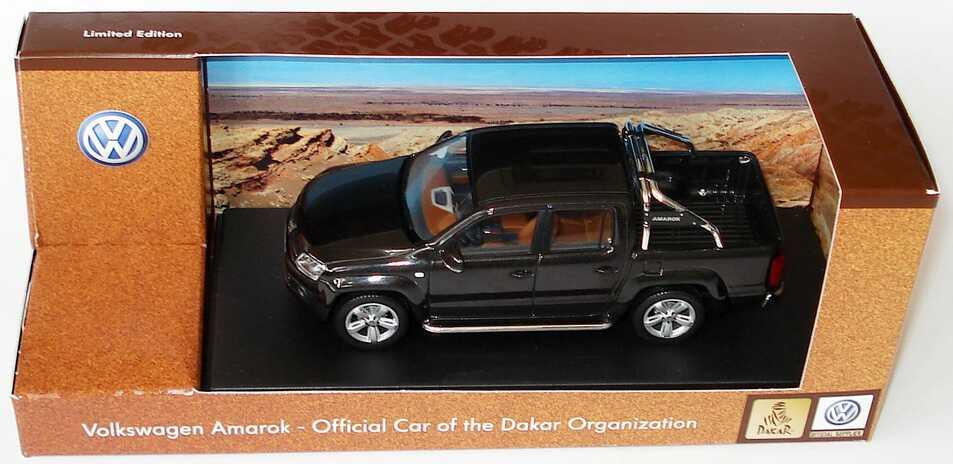 Foto 1:43 VW Amarok Pick Up deepblack-met. Sondermodell Rallye Dakar Werbemodell Minichamps 2H7099300AC9X