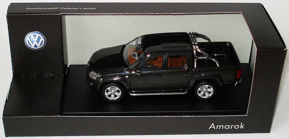 Foto 1:43 VW Amarok Pick Up deepblack-met. Werbemodell Minichamps 2H7099300C9X