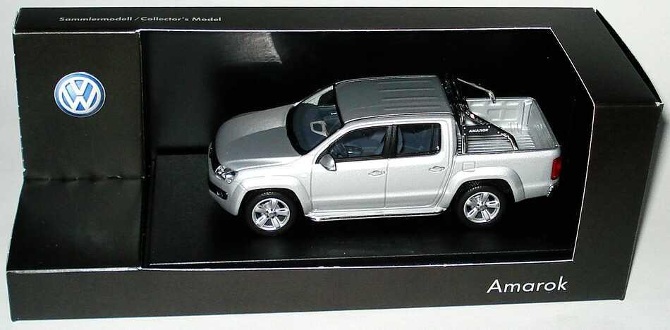 Foto 1:43 VW Amarok Pick Up reflexsilber-met. Werbemodell Minichamps 2H7099300A7W