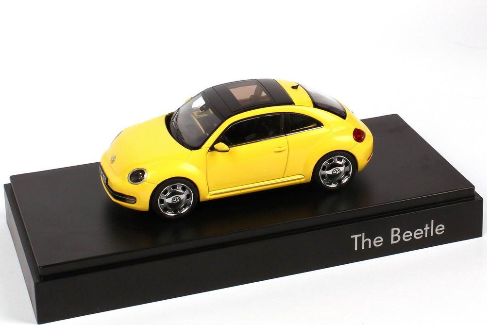 Foto 1:43 VW Beetle (2011) sunflower-gelb Werbemodell Schuco 5C1099300PXP