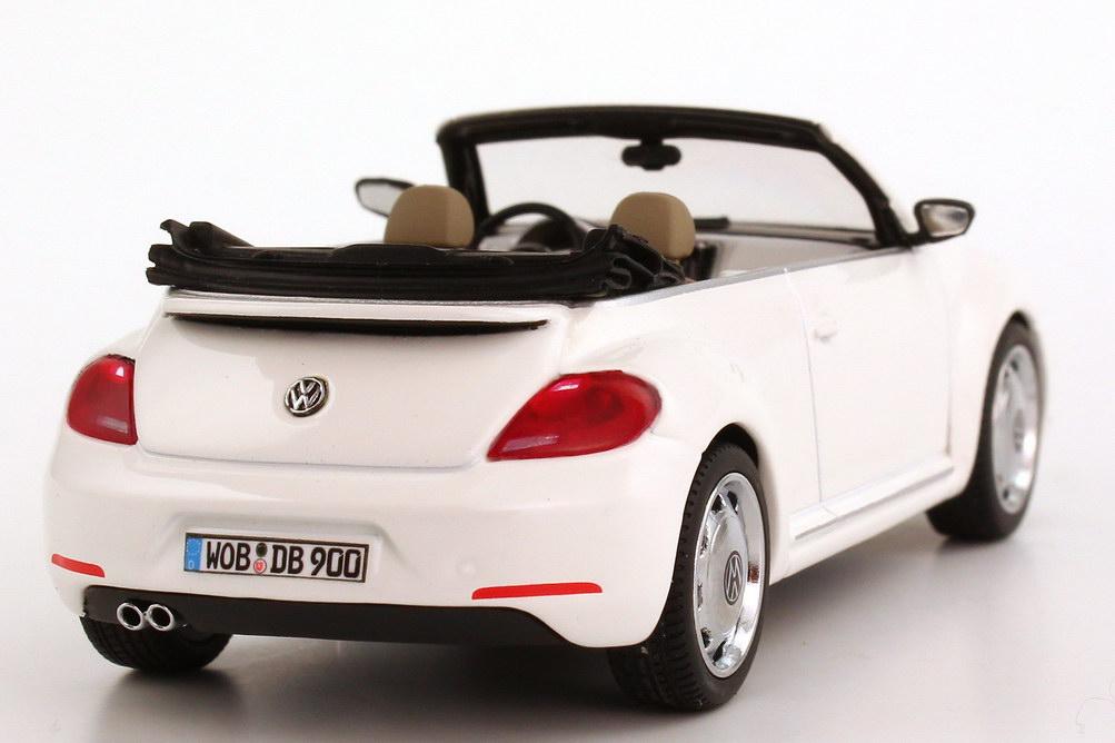 vw beetle cabrio  candy white werbemodell schuco cba  der zucom modellauto