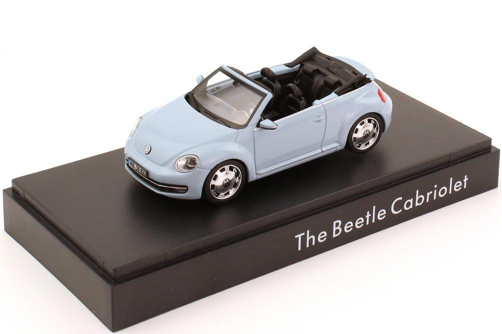 Foto 1:43 VW Beetle Cabrio (2013) denim-blue-met. Werbemodell Schuco 5C3099300P5F