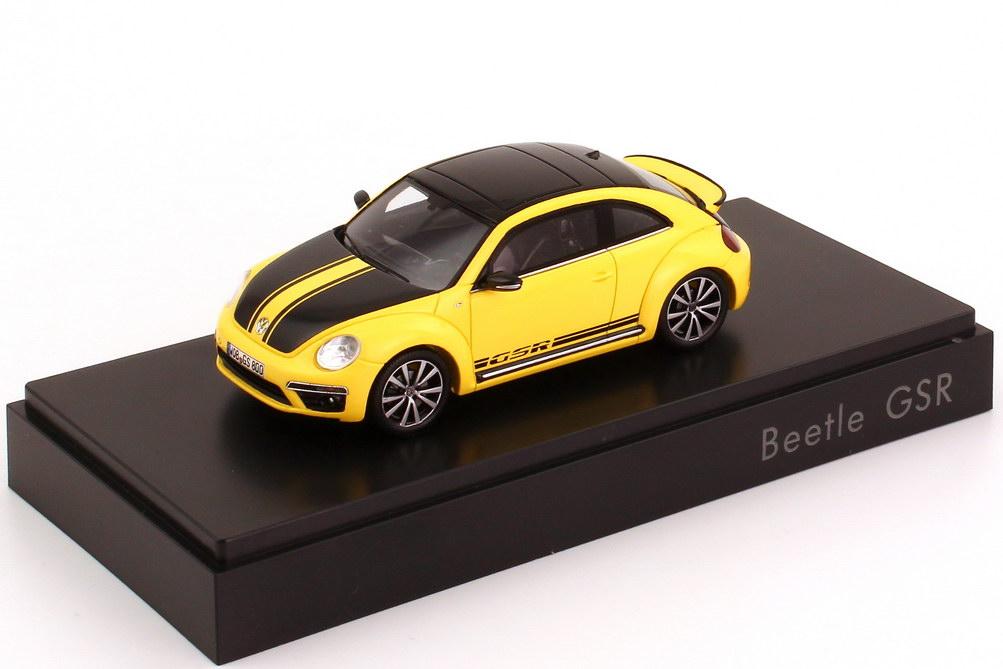 Foto 1:43 VW Beetle GSR 2013 gelb/schwarz Werbemodell Spark 5C5099300B1B