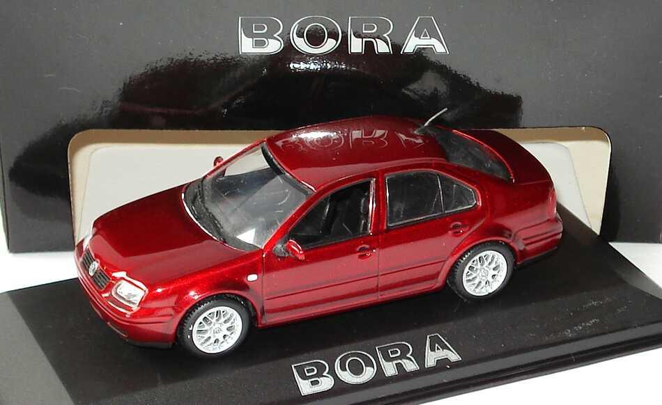 Foto 1:43 VW Bora weinrot-met. Werbemodell Minichamps 8198223