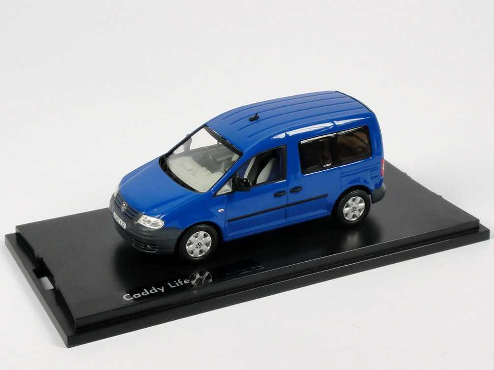 Foto 1:43 VW Caddy III Life ravenna-blau-met. Werbemodell Replicars 2K0099300LA5W