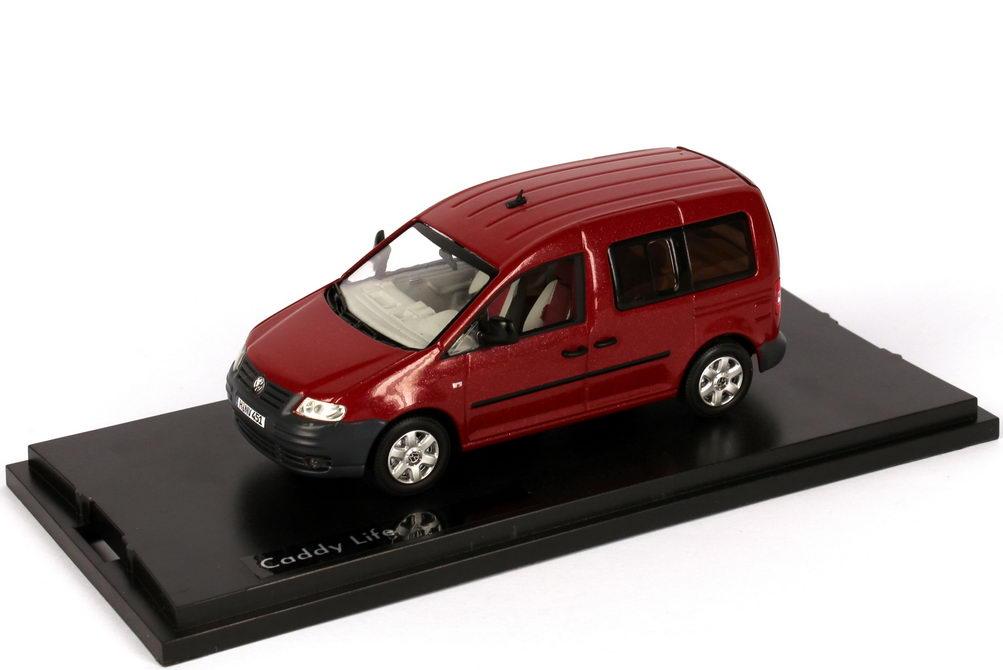 Foto 1:43 VW Caddy III Life red-spice-met. Werbemodell Replicars 2K0099300LY3D