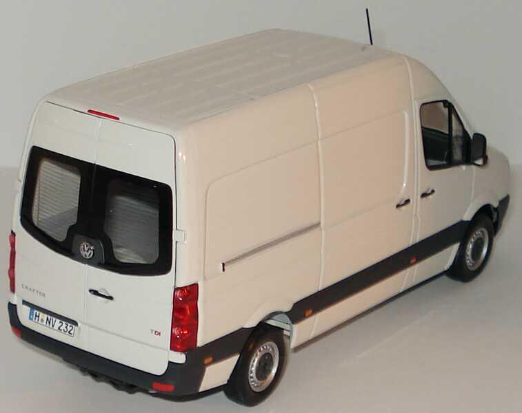 Foto 1:43 VW Crafter Kasten Hochdach grauweiß Werbemodell Minichamps 2E9099300903