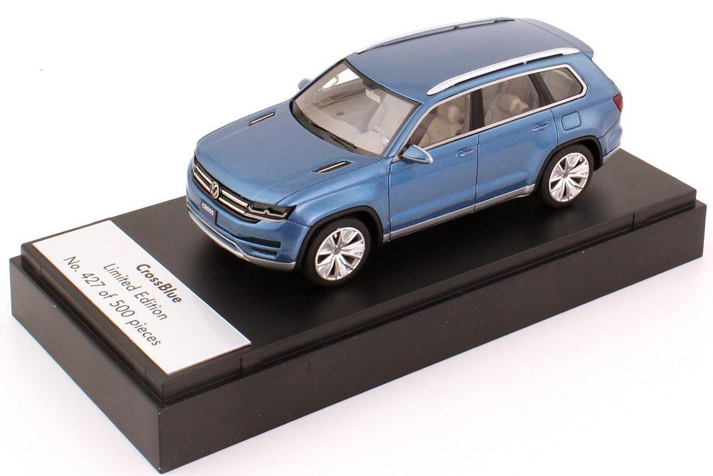 Foto 1:43 VW CrossBlue Concept-Car NAIAS 2012 blau-met. Werbemodell Looksmart 000099300ACFTS