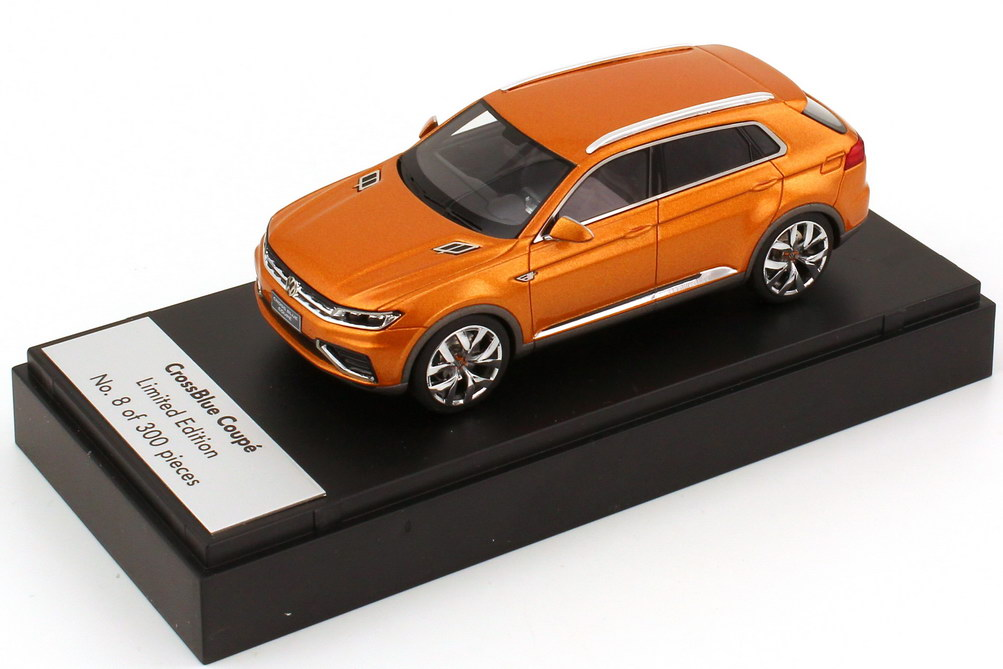 Foto 1:43 VW CrossBlue Coupé Concept-Car (Shanghai Motor Show 2013) gold-orange-met. Werbemodell Looksmart 000099300AE578