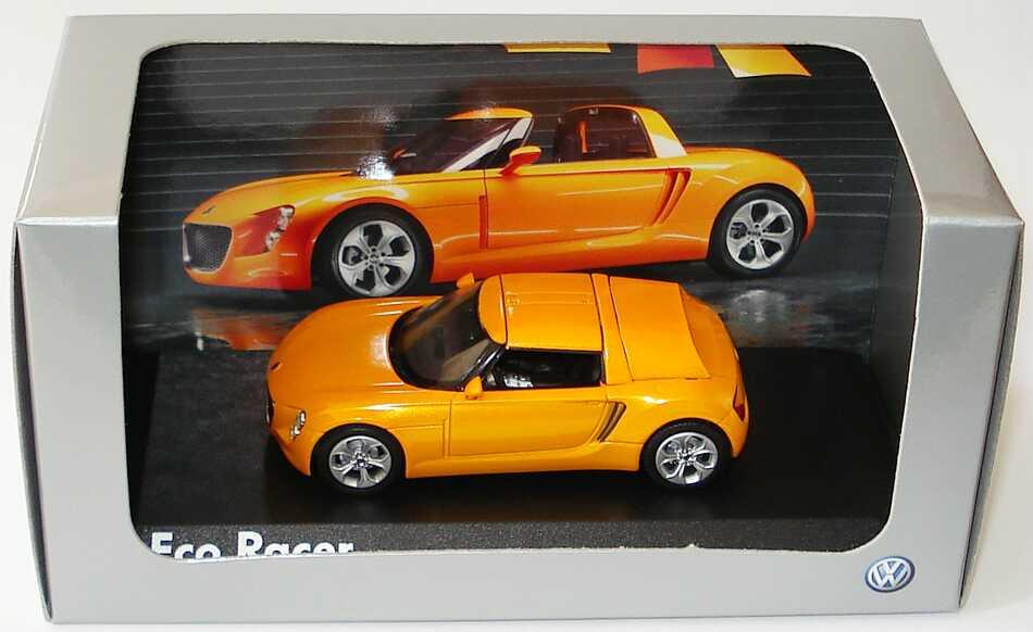 Foto 1:43 VW Eco Racer Concept Car gelborange Werbemodell Norev 00V099300ER018