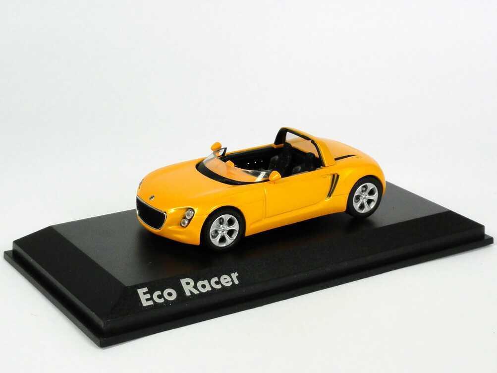 Foto 1:43 VW Eco Racer Roadster Concept Car 2005 gelborange Norev 840110