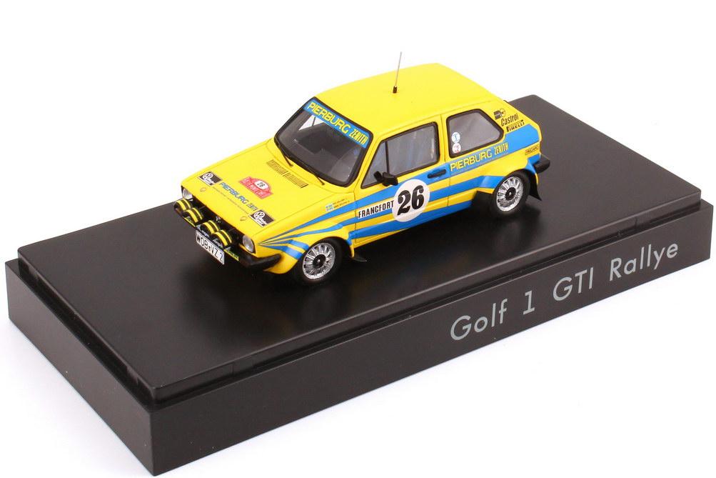Foto 1:43 VW Golf I GTI Rallye Monte Carlo 1980 Pierburg Nr.26, Per Eklund / Hans Sylvan Werbemodell Spark 174099300BEB