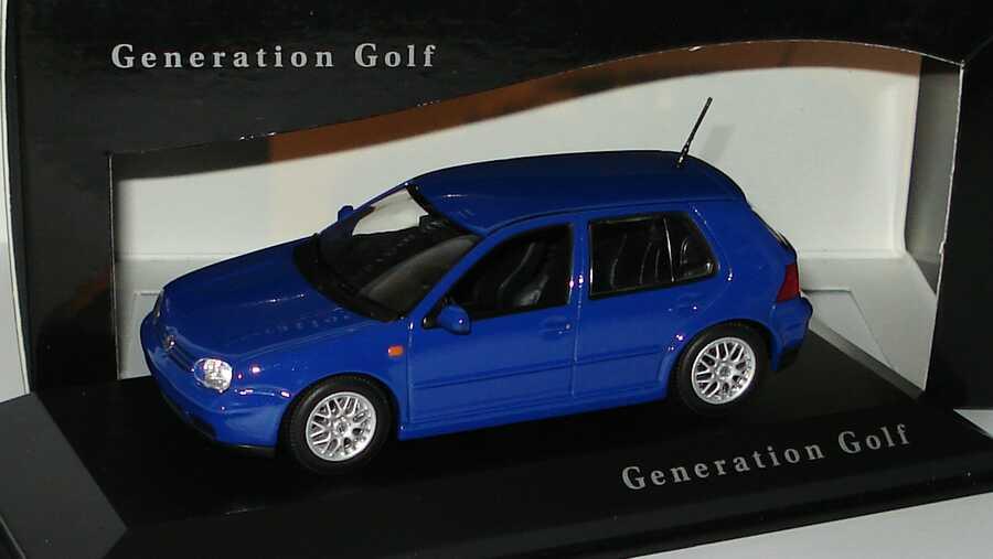 vw golf iv gti 4t rig blau generation golf werbemodell minichamps in der modellauto. Black Bedroom Furniture Sets. Home Design Ideas