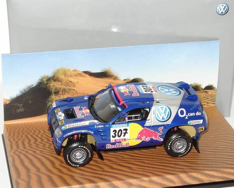 Foto 1:43 VW Race Touareg 2005 Rallye Dakar VW, Red Bull Nr.307, Saby/Perin Werbemodell Minichamps 7L0099400PD307