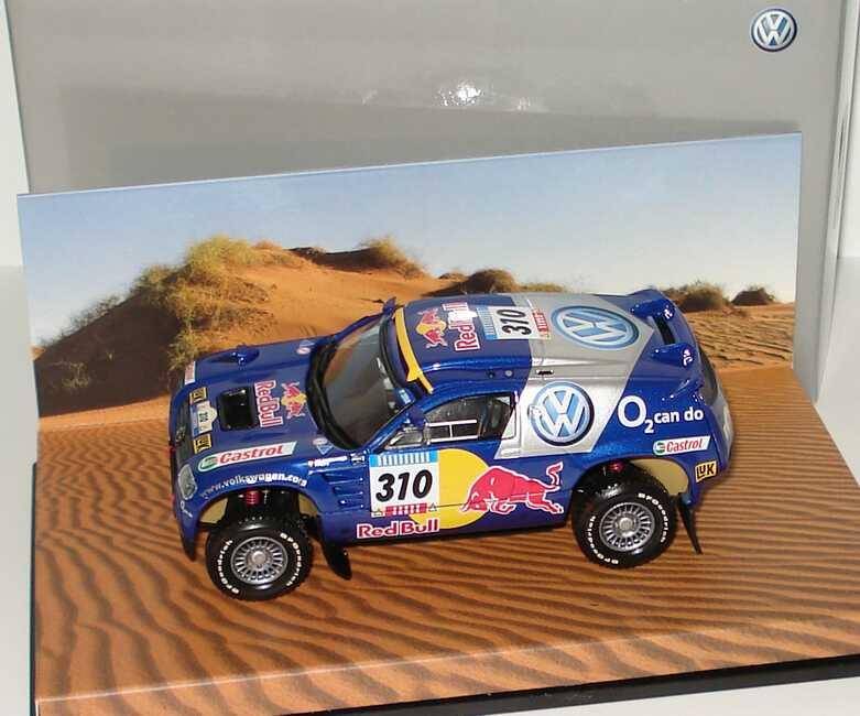 Foto 1:43 VW Race Touareg 2005 Rallye Dakar VW, Red Bull Nr.310, Kleinschmidt/Pons Werbemodell Minichamps 7L0099400PD310