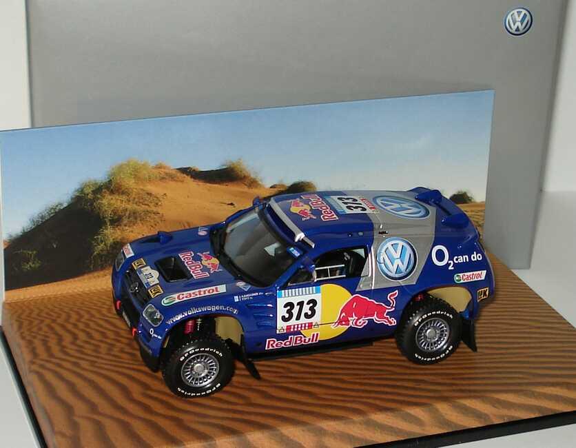 Foto 1:43 VW Race Touareg 2005 Rallye Dakar VW, Red Bull Nr.313, Kankkunen/Repo Werbemodell Minichamps 7L0099400PD313